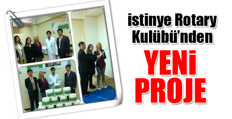 İstinye Rotary Kulübü'nden yeni proje.