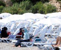Antalya'da kadınlara özel plaj açıldı!