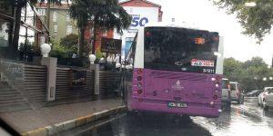 Bir otobüs kazası da Sarıyer'den!