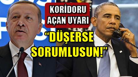 Obama uyardı, Türkiye koridoru açtı