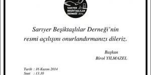 Sarıyer Beşiktaş'lılar Derneği resmen açılıyor.