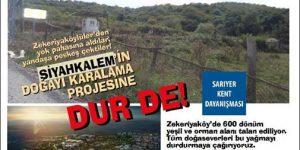 Bugün Zekeriyaköy'de eylem var!