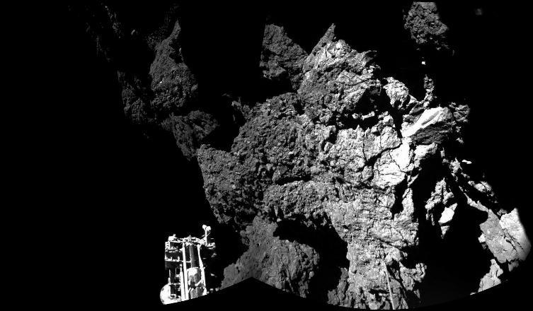 İşte Philae kuyruklu yıldızından gelen ilk fotoğraflar