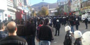 Tunceli'de Başbakan protestosu.