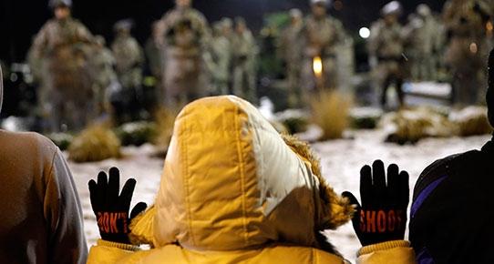Ferguson'da protestocular belediye binasına girdi