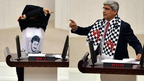 CHP'li vekillerden meclis'te eylem.