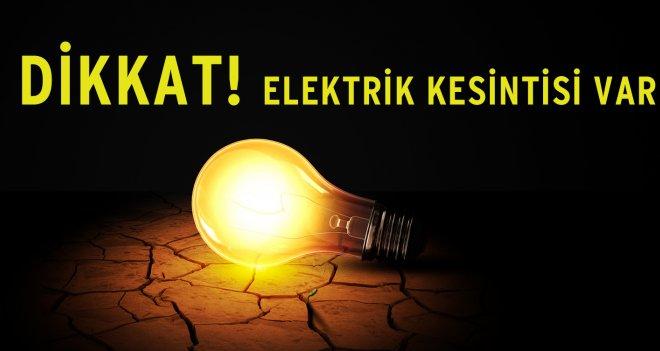 Sarıyer'de elektrik kesintisi.