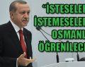 Erdoğan'dan Osmanlıca resti
