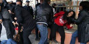 Liselilere polis müdahalesi.