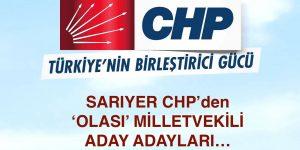 CHP Sarıyer'de TBMM İçin Olası Aday Adaylar.