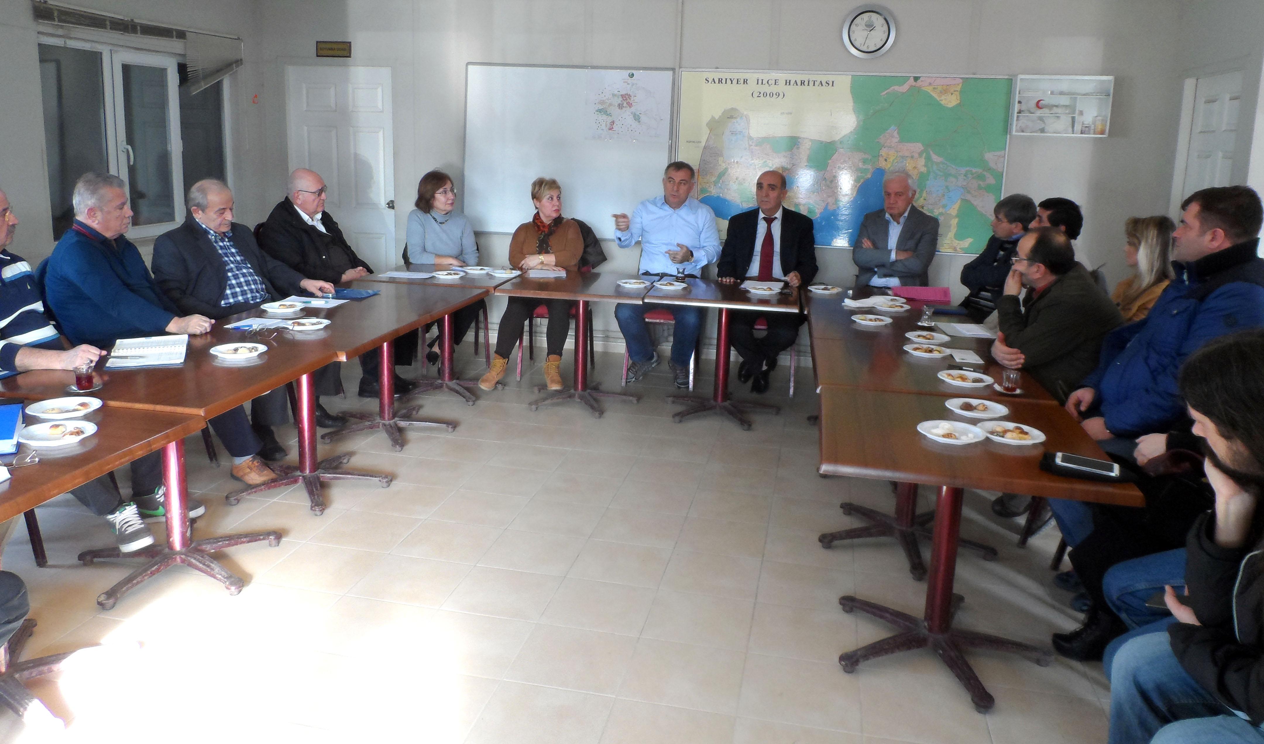 Zekeriyaköy sitelerinden toplantı.