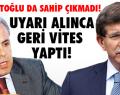 Davutoğlu'ndan Tayyar'a ayar!