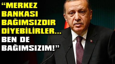 Erdoğan'dan Merkez Bankası'na müdahale