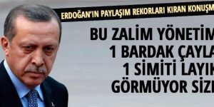 Erdoğan'ın paylaşım rekoru kıran konuşması