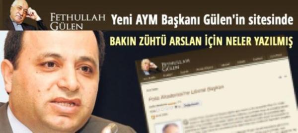 Yeni AYM Başkanı Fethullah Gülen'in sitesinde