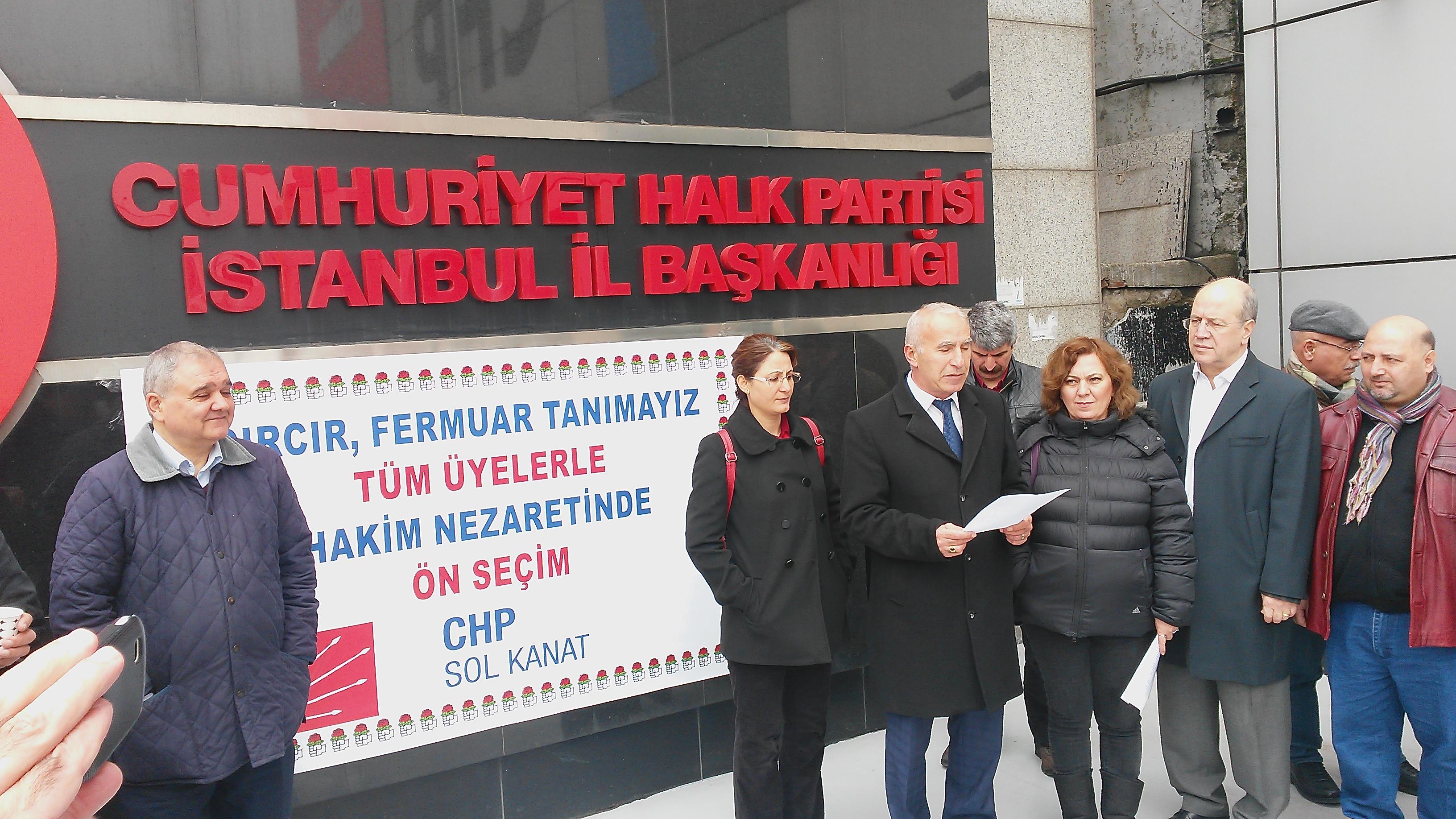 CHP SOL Kanat Grubundan basın açıklaması.