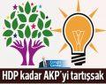HDP kadar AKP'yi tartışsak…