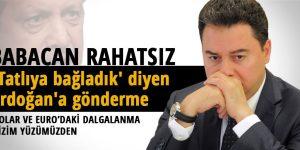 Babacan'dan 'tatlıya bağladık' diyen Erdoğan'a gönderme