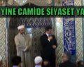 Davutoğlu camide oy topluyor