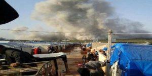 Suriye'nin Atme kasabası bombalandı: Ölü ve yaralılar var