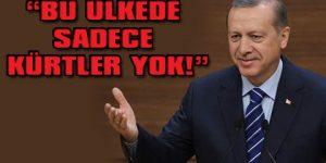 Erdoğan'dan yine Kürt sorunu çıkışı