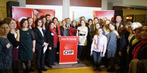 CHP Kadın kollarından kadınlara kahvaltı.