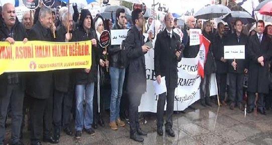 Süryanilerden IŞİD protestosu