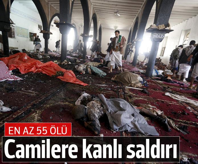 Yemen'de iki camiye saldırı: 55 ölü
