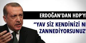 """Erdoğan'dan HDP'ye """"Yav siz kendinizi ne zannediyorsunuz?"""""""