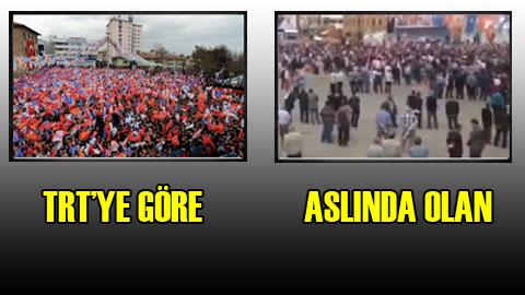 TRT'den AKP için miting hilesi