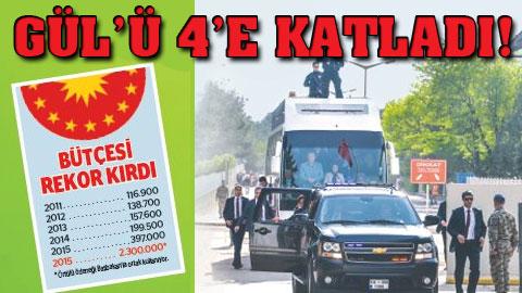 Erdoğan rekor harcama yaptı