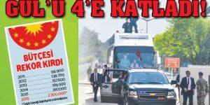 Erdoğan rekor harcama yaptı…