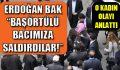 AKP mitinginde başörtülü kadın darp edildi.
