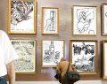 Orhan Pamuk resimleriyle İstanbul Bienali'nde…