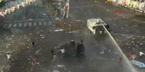Patlama sonrası polis müdahalesi! Sağduyu çağrısı.