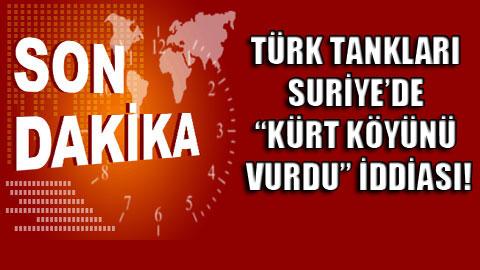 AFP: Türk tankları Suriye'yi vurdu