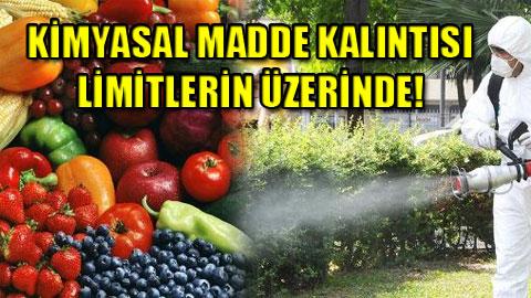 Meyve ve sebzemizi bile zehir ettiler