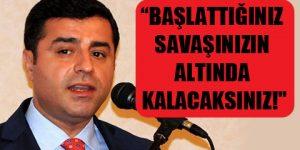 Demirtaş: Yüksekova'da katliam var