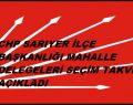 CHP Sarıyer Delege seçim takvimi