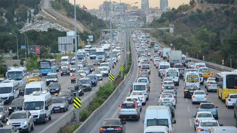 TEM'de trafik kilit!
