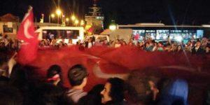 Sarıyer'de protesto.