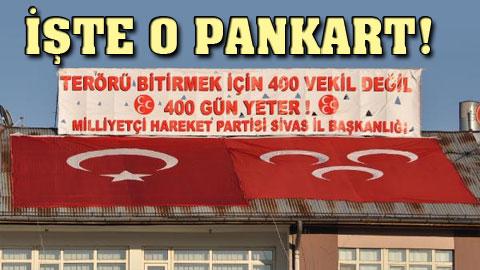MHP pankartına flaş yasak!