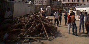 Konya'da Kürt işçiler inşaatta mahsur