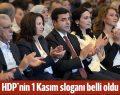 HDP'nin 1 Kasım sloganı belli oldu: İnadına HDP