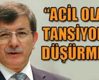 Davutoğlu: Başkanlık acil değil