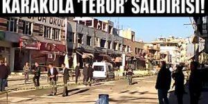 Adana'da karakola bombalı saldırı!