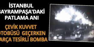 Çevik Kuvvet otobüsü geçerken parça tesirli bomba: İşte patlama anı