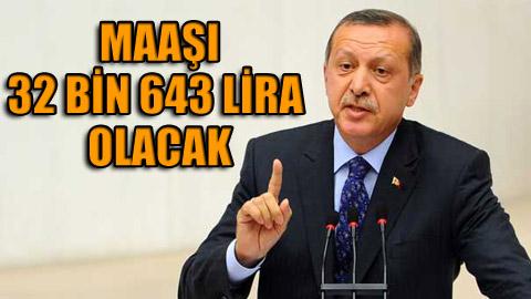 Erdoğan'a yüzde 12.56 oranında zam!