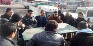 Soma'da işten çıkarılan işçilerden eylem