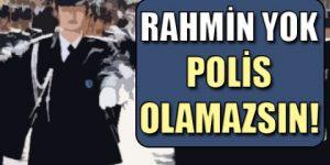 Kadın polis adayına şok!